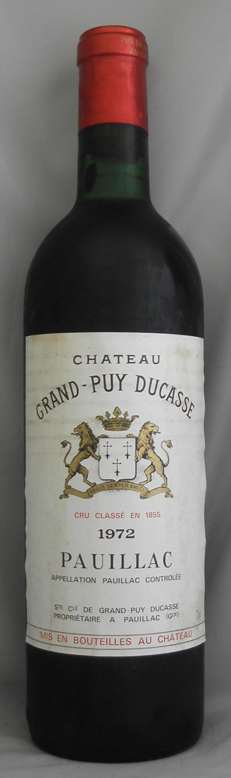 1972年 シャトー グランピュイ デュカス(フランス 赤ワイン)