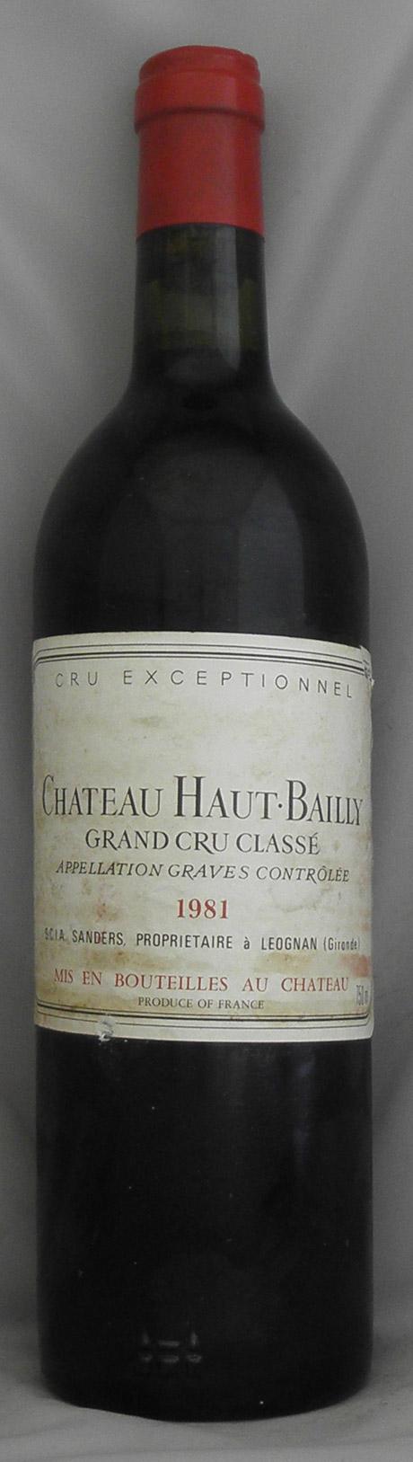 1981年 シャトー オーバイイ(フランス 赤ワイン)