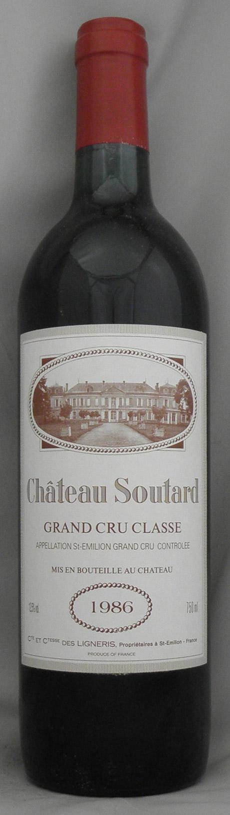 1986年 シャトー スータール(フランス 赤ワイン)