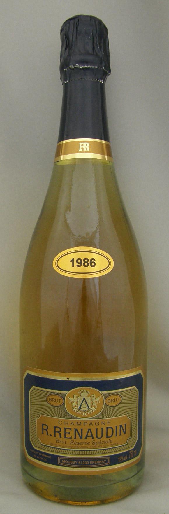 1986年 ブリュット レゼルヴ スペチアーレ(フランス シャンパン)