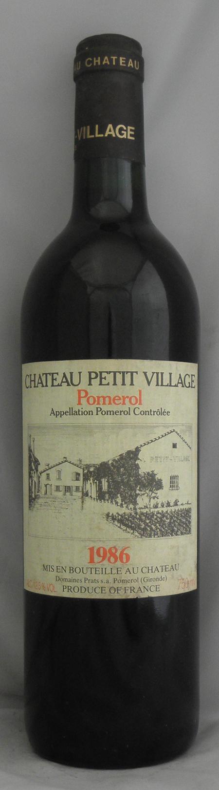 1986年 シャトー プティ ヴィラージュ(フランス 赤ワイン)