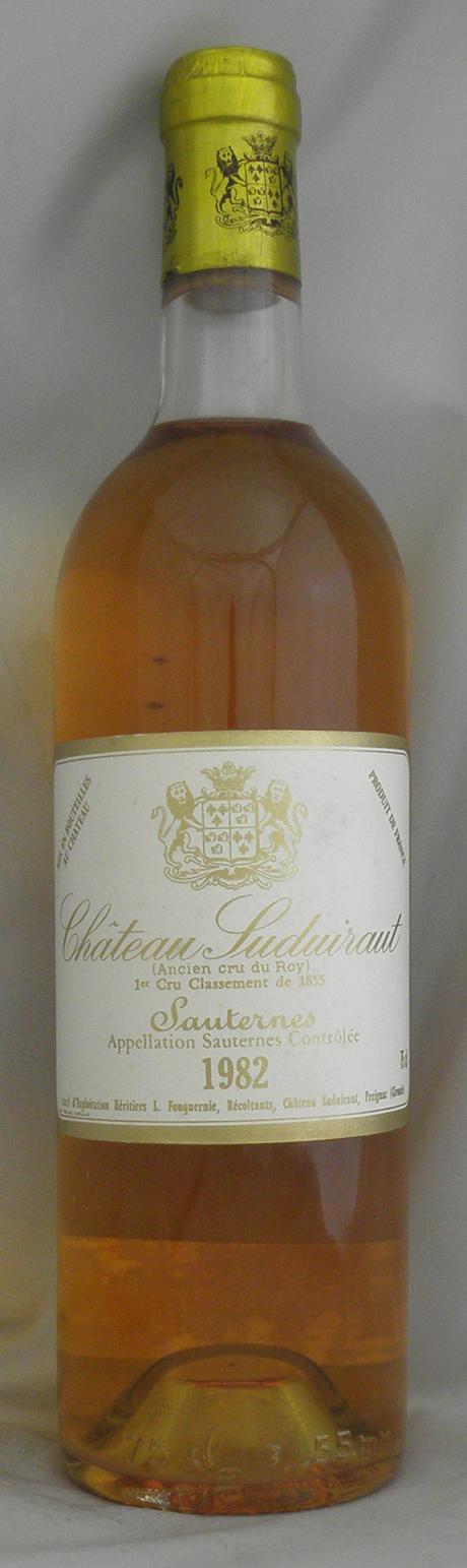 1982年 シャトー シュディロー (フランス 白ワイン)