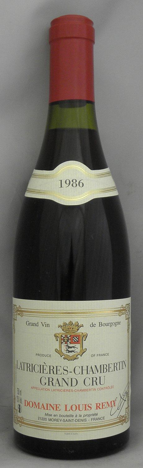 1986年 ラトリシエール シャンベルタン(フランス 赤ワイン)