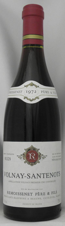 1972年 ヴォルネイ サントノ(フランス 赤ワイン)