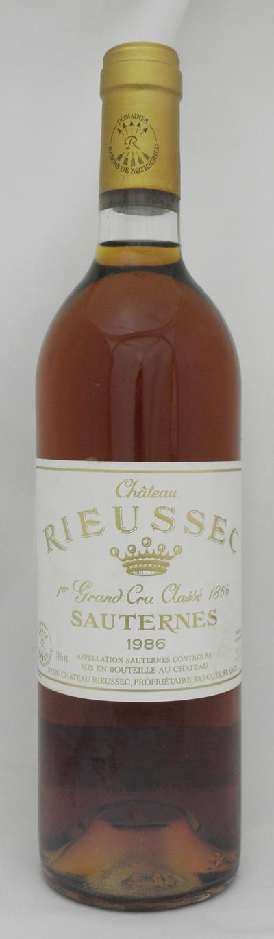 1986年 シャトー リューセック(フランス 白ワイン)
