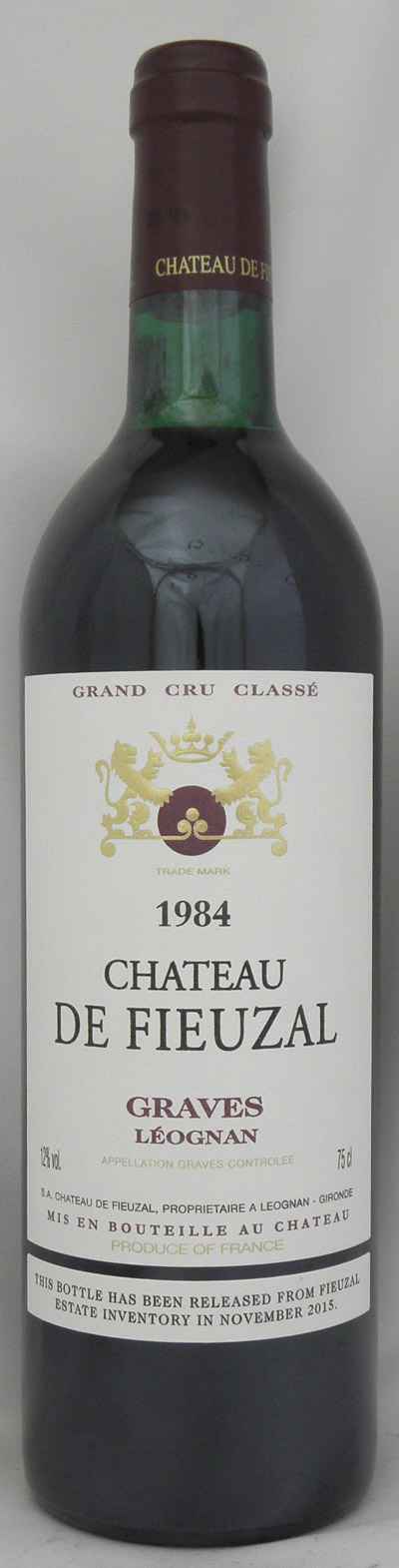 1984年 シャトー ド フューザル ルージュ(フランス 赤ワイン)
