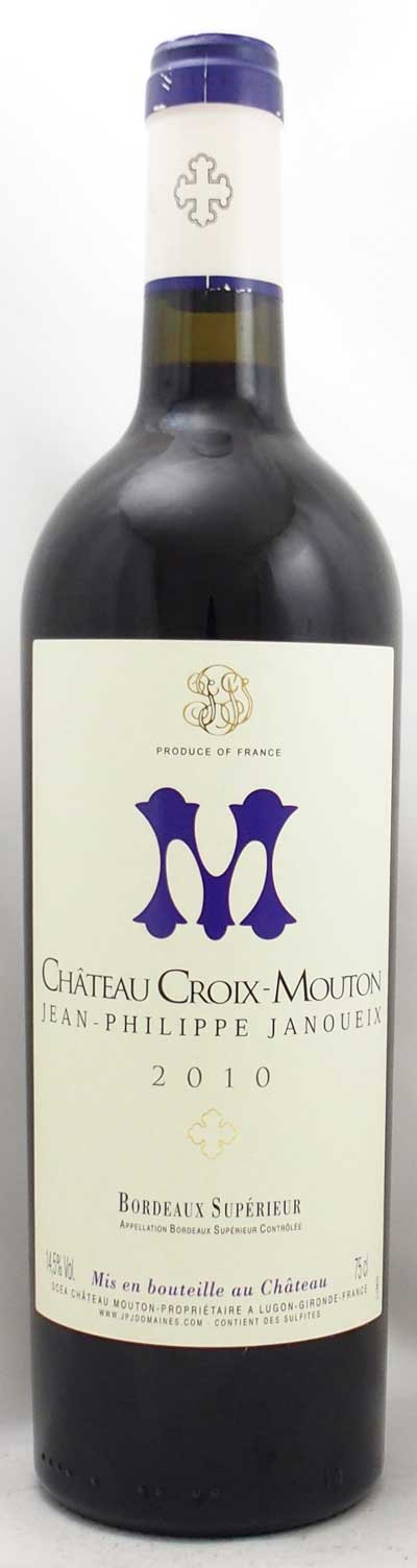 2010年 シャトー クロワ ムートン(フランス 赤ワイン)