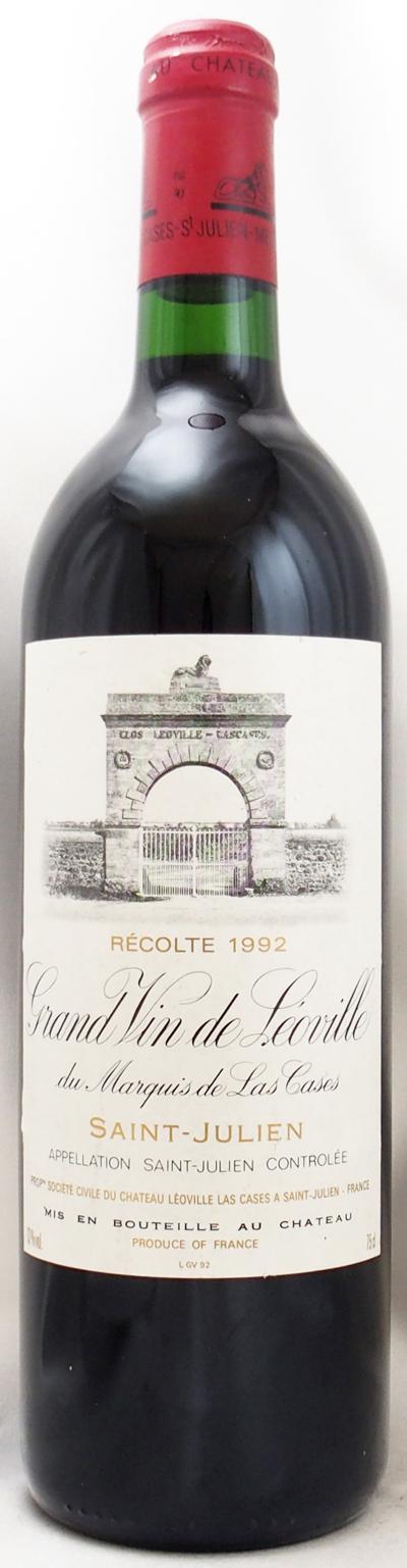 1992年 シャトー レオヴィル ラス カーズ(フランス 赤ワイン)
