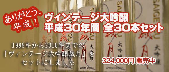 ヴィンテージ大吟醸「歳月」平成30年間 全30本セット(日本酒)