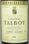 1978年 シャトー タルボ CHATEAU TALBOT