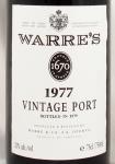 1977年 ワレ ヴィンテージ ポート WARRE VINTAGE PORT WARRE
