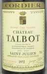 1972年 シャトー タルボ CHATEAU TALBOT