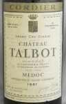 1961年 シャトー タルボ CHATEAU TALBOT