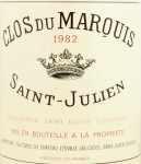 1982年 クロ デュ マルキ CLOS DU MARQUIS