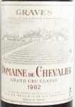 1982年 ドメーヌ ド シュヴァリエ ルージュ DOMAINE DE CHEVALIER ROUGE DOMAINE DE CHEVALIER