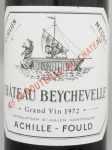 1972年 シャトー ベイシュヴェル CHATEAU BEYCHEVELLE