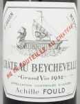1952年 シャトー ベイシュヴェル CHATEAU BEYCHEVELLE