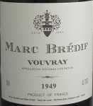1949年 ヴーヴレイ VOUVRAY MARC BREDIF