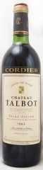 1983年 シャトー タルボ(赤ワイン)