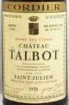1970年 シャトー タルボ CHATEAU TALBOT