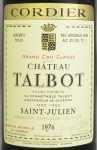 1976年 シャトー タルボ CHATEAU TALBOT