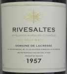 1957年 リヴザルト RIVESALTES DOMAINE DE LACRESSE