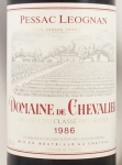 1986年 ドメーヌ ド シュヴァリエ DOMAINE DE CHEVALIER