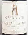 1991年 シャトー ラトゥール CHATEAU LATOUR