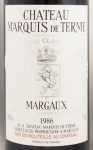 1986年 シャトー マルキ ドゥ テルム CHATEAU MARQUIS DE TERME