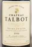 1994年 シャトー タルボ CHATEAU TALBOT