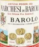 1968年 マルケージ ディ バローロ MARCHESI DI BAROLO  MARCHESI DI BAROLO
