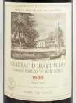 1989年 シャトー デュアール ミロン ロートシルト CHATEAU DUHART MILON ROTHSCHILD