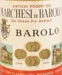 1959年 マルケージ ディ バローロ MARCHESI DI BAROLO  MARCHESI DI BAROLO