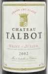2002年 シャトー タルボ CHATEAU TALBOT