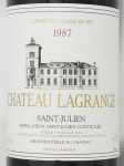 1987年 シャトー ラグランジュ CHATEAU LAGRANGE