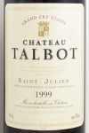 1999年 シャトー タルボ CHATEAU TALBOT