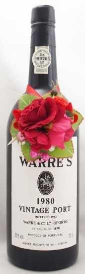 1980年 ワレ ヴィンテージ ポート WARRE VINTAGE PORT WARRE