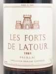 1981年 レ フォール ド ラトゥール LES FORTS DE LATOUR