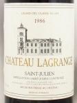 1986年 シャトー ラグランジュ CHATEAU LAGRANGE
