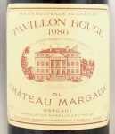 1986年 パヴィヨン ルージュ ド シャトー マルゴー PAVILLON ROUGE DU CHATEAU MARGAUX