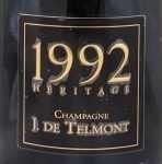 1992年 エリタージュ ブリュット ミレジメ HERITAGE BRUT MILLESIME J DE TELMONT