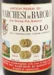 1970年 マルケージ ディ バローロ MARCHESI DI BAROLO  MARCHESI DI BAROLO