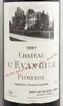 1987年 シャトー レヴァンジル CHATEAU L'EVANGILE
