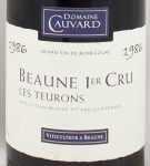 1986年 ボーヌ プルミエ クリュ レ トゥーロン BEAUNE 1ER CRU LES TEURONS DOMAINE CAUVARD