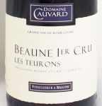 1989年 ボーヌ プルミエ クリュ レ トゥーロン BEAUNE 1ER CRU LES TEURONS DOMAINE CAUVARD