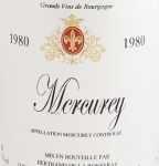 1980年 メルキュレ ルージュ MERCUREY ROUGE BERTRAND DE LA RONSERAY