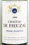 1998年 シャトー ド フューザル ブラン CHATEAU FIEUZAL ROUGE BLANC