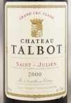2000年 シャトー タルボ CHATEAU TALBOT
