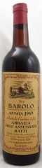 1969年 バローロ アッバツィア デッラ アヌンツィアータ(赤ワイン)