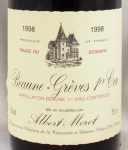 1998年 ボーヌ グレーブ プルミエ クリュ BEAUNE GREVES  1ER CRU ALBERT MOROT